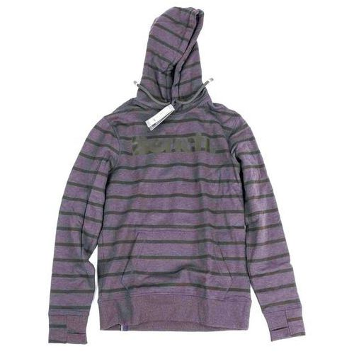 bluza BENCH - Her. Printed Stripe Corp Hoodie Winter Antracite Marl (MA1055) rozmiar: L, 1 rozmiar