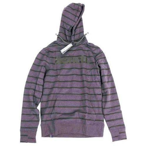 Bluza - her. printed stripe corp hoodie winter antracite marl (ma1055) rozmiar: m marki Bench