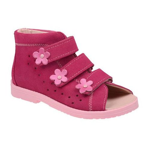 Sandałki profilaktyczne ortopedyczne buty 1042 różowe rc - różowy ||fuksja ||multikolor marki Dawid
