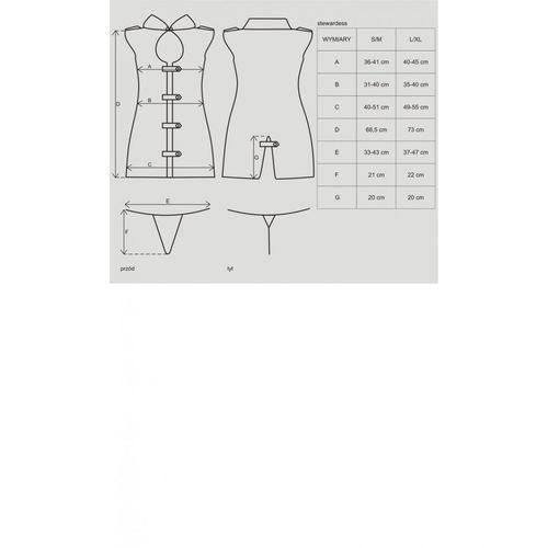 Przebranie sukienka Obsessive Stewardess Dress Costume S/M