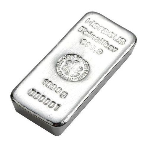 1000 g (1 kg) Sztabka srebra
