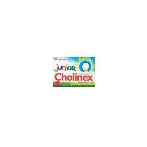 Glaxosmithkline Pastylki do ssania cholinex junior o smaku malinowym od 4 roku życia (8 sztuk)