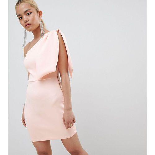 b7daf9a055 Zobacz ofertę Asos petite Asos design petite bow shoulder exposed zip mini  dress - pink