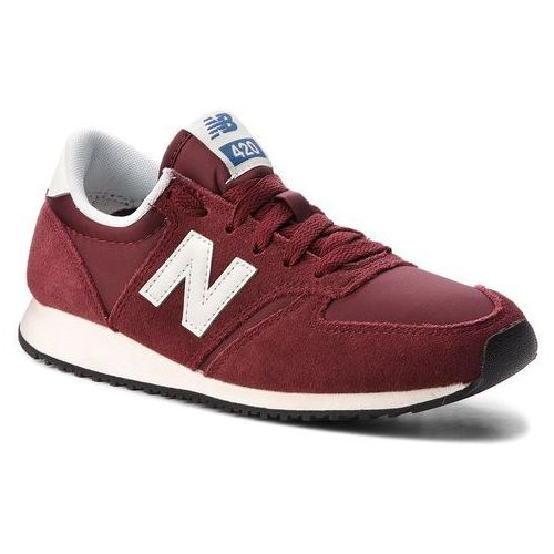 Sneakersy - u420rdw bordowy marki New balance