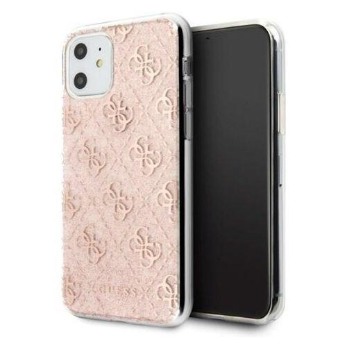Guess GUHCN61PCU4GLPI iPhone 11 różowy/pink hard case 4G Glitter, kolor różowy