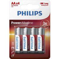 Bateria PHILIPS LR6P4B/10 AA POWER ALAKLINE ( Technologia alkaliczna idealna do urządzeń o dużym poborze energii; 4szt)