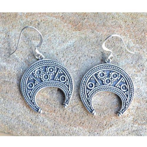 Kolczyki lunitsa wielkie morawy, wikingowie srebro 925 fgj139 marki Płatnerze