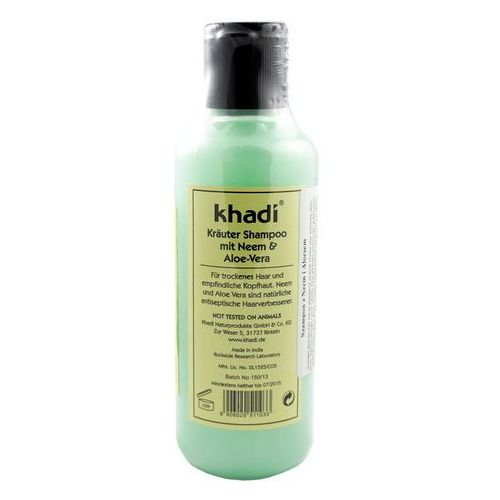 Nawilżający szampon Neem Aloe Vera - 210g - marki Khadi