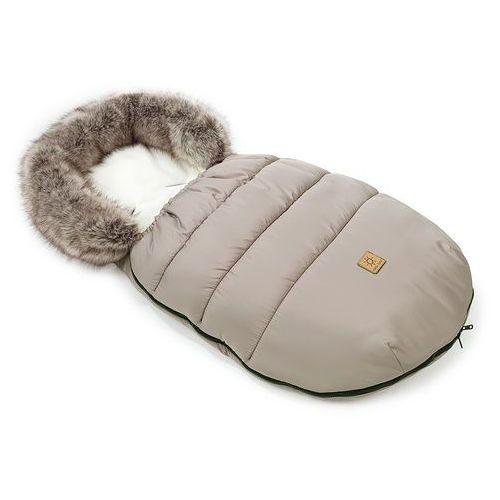 zimowy śpiwór do wózka - beż / ecru marki Mamo-tato