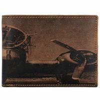 Greenburry Vintage Aeroplane Portfel skórzany 12,5 cm braun ZAPISZ SIĘ DO NASZEGO NEWSLETTERA, A OTRZYMASZ VOUCHER Z 15% ZNIŻKĄ