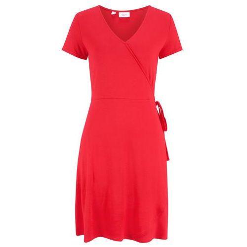Sukienka aksamitna bonprix ciemnoniebieski, kolor czerwony