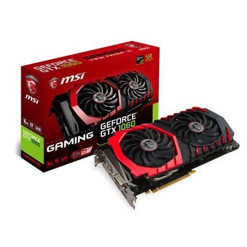 Karta VGA MSI GTX1060 GAMING 6G OC 6GB GDDR5 192bit DVI+HDMI+3xDP PCIe3.0, GeForce GTX 1060 GAMING 6G