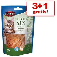 3 + 1 gratis! Trixie Premio Chicken Filet Bites, 4 x 50 g - 4 x 50 g, KTRI215