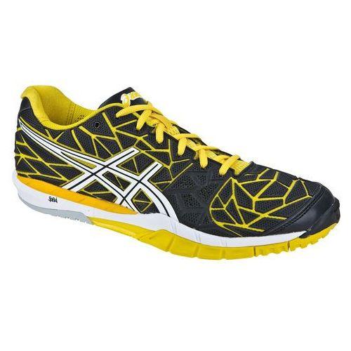 Asics gel-fireblast - męskie buty do treningu na hali (czarno-zółte)