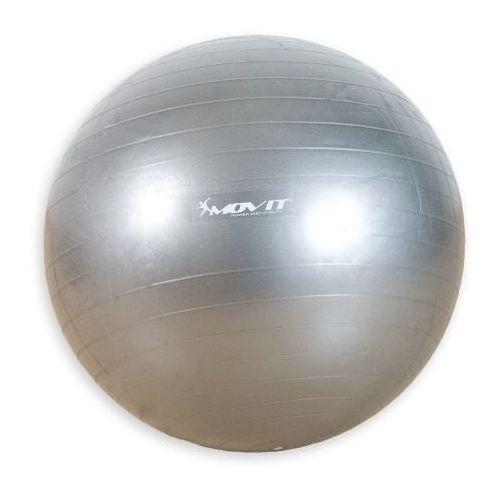 Movit ® Srebrna piłka fitness rehabilitacyjna 65 cm pompka - 65 cm / srebrny