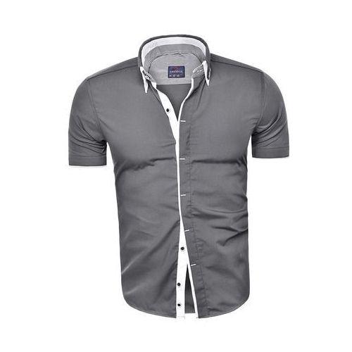 dabaab61b6976d ... Koszula męska z krótkim rękawem cd24 - stalowa, w 5 rozmiarach - Foto  produktu ...