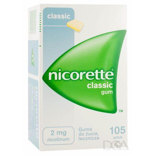 Pastylki Nicorette, guma do żucia, 2 mg, 105 szt