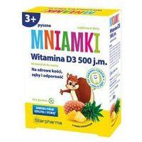 STARPHARMA Mniamki Witamina D3 500j.m., 60 pastylek do ssania o smaku ananasowym (5904730732741)