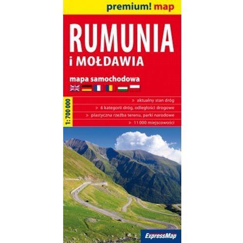 Rumunia i Mołdawia mapa samochodowa 1:700 000 (2011)