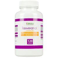 Kapsułki Resveratrol standaryzowany ekstrakt 250mg (50% resveratrolu) (MyVita) 120 kaps.