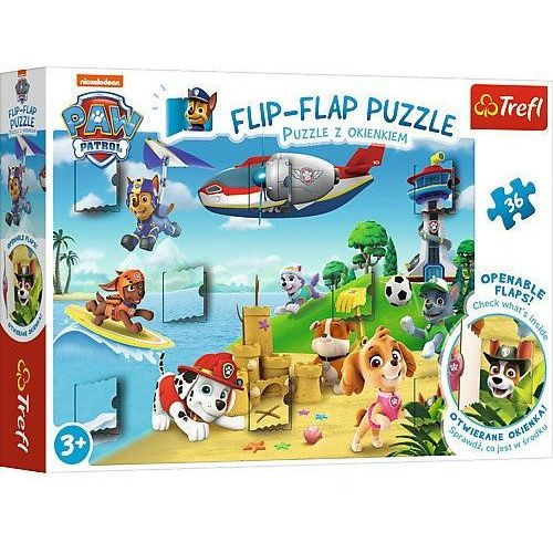 Trefl Puzzle 36 z okienkiem - paw patrol wakacje