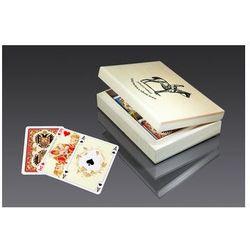 Karty lux w pudełku z logo Piatnika - karty do gry