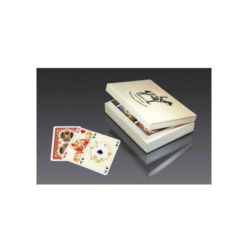 Piatnik Karty lux w pudełku z logo a - karty do gry (9001890280597)