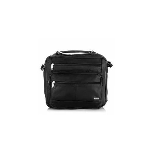 Skórzana torba męska na ramię paolo peruzzi b 01 czarna