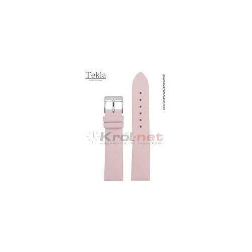 Pasek do zegarka TK126ROZ/16 - gładki, różowy, kolor różowy