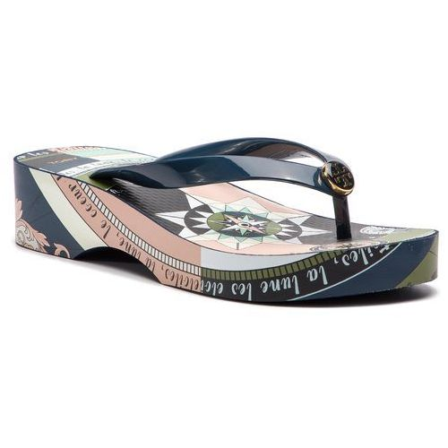 43e9eb85e Tory Burch Japonki TORY BURCH - Cut-Out Wedge Flip Flop 46006 Tory  Navy Navy Constellation