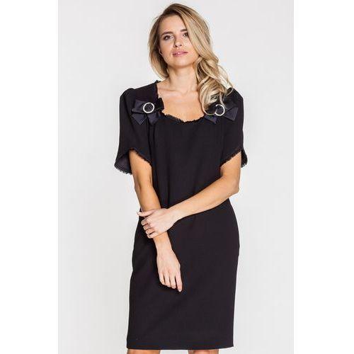 106333671c Sukienka wizytowa z ozdobą z cyrkonii (Paola Collection) - sklep ...