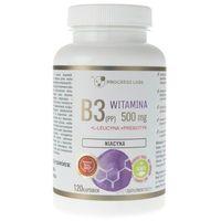 Kapsułki Progress Labs Niacyna Witamina B3 (PP) 500 mg + Inulina - 120 kapsułek