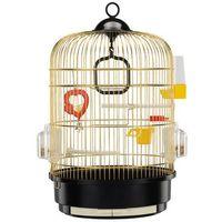 Ferplast regina mosiądz klatka okrągła dla kanarka, papużki z wyposażeniem (51049802)