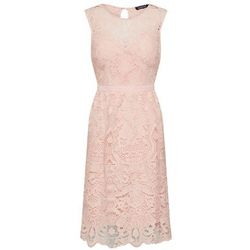 Boohoo Sukienka koktajlowa 'LACE SKATER DRESS' różowy pudrowy, koktajlowa