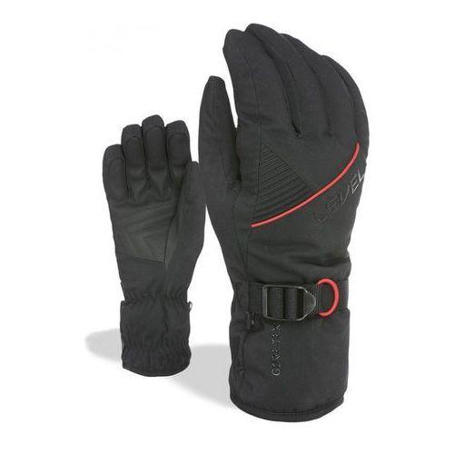 rękawice narciarskie męskie trouper gore-tex pk black 8 - m marki Level