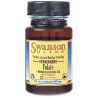 Kapsułki Swanson Ultra Kwas Foliowy (Folian Quatrefolic) 400 mcg - 30 kapsułek