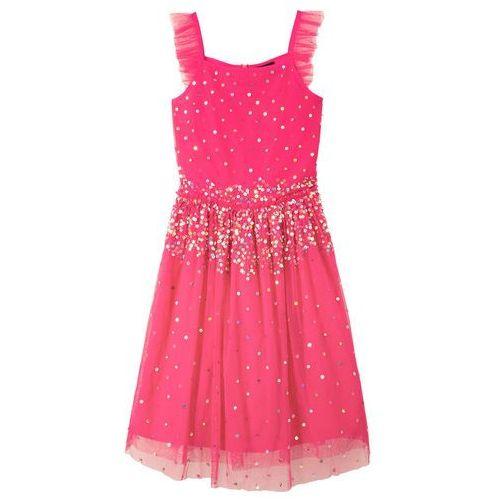 81fb65ba86 Sukienka z cekinami bonprix różowy hibiskus