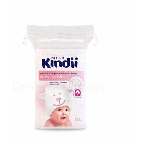 Cleanic, Kindii Baby Sensitive. Płatki kosmetyczne dla niemowląt, 60szt - Cleanic