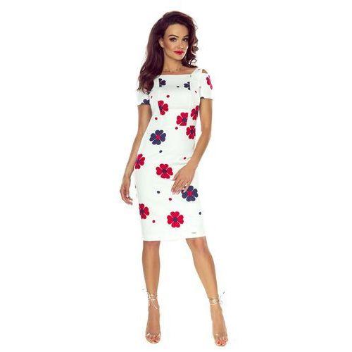 Pudełkowa sukienka w kwiaty, M54830