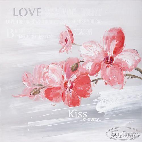 W superbly 🏆 Obraz ręcznie malowany - Justyna z napisami - Eurofirany - ceny HV19