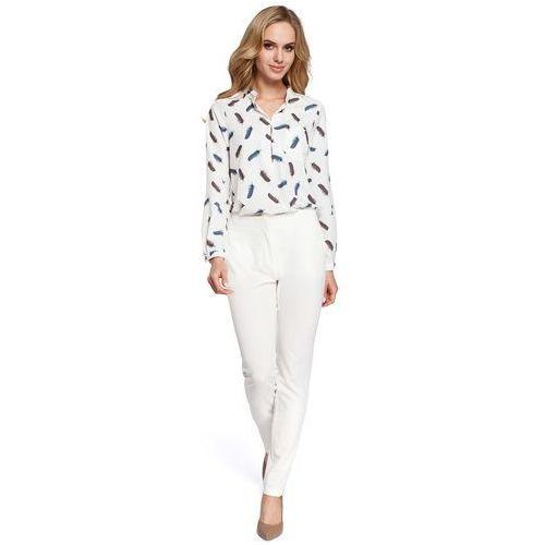 30b47c7b31 Eleganckie spodnie damskie cygaretki ecru M303 (MOE) opinie + ...
