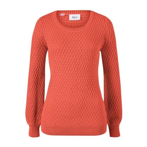 "Sweter ""oversize"" szary melanż marki Bonprix"