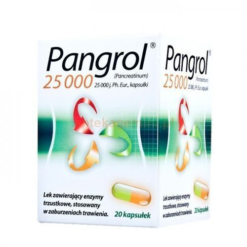 Kapsułki PANGROL 25000j.m. x 20 kaps.