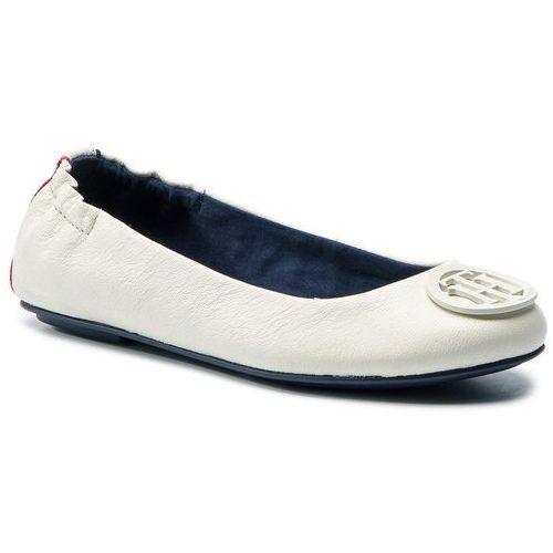 6596301e72ce3 Tommy Hilfiger Baleriny - flexible leather ballerina fw0fw04073 whisper  white 121