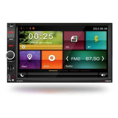 Radio samochodowe  ht-869v2 + kamera cofania 4smdpl marki Vordon