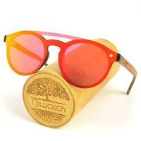 Drewniane okulary przeciwsłoneczne Niwatch Volans Orange Mirror