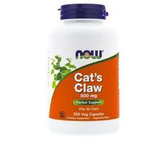 Kapsułki Now Foods Koci Pazur (Cat's Claw) 500 mg - 250 kapsułek