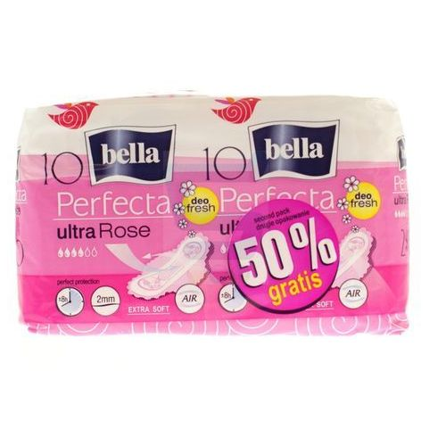 Bella Perfecta Podpaski ultra rose deo fresh 2 x 10 szt