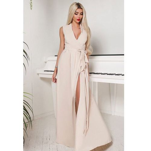 Sukienka DERONA BEIGE, kolor beżowy