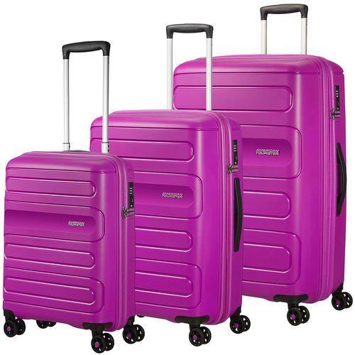 sunside zestaw walizek / komplet / walizki na 4 kółkach / fioletowy - ultraviolet marki American tourister